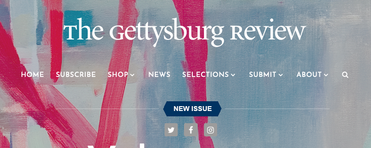 Mark Drew of the Gettysburg Review